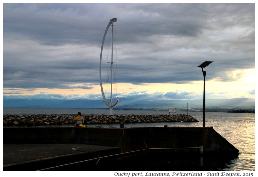 Alone at Ouchy port, Lausanne, Switzerland - Images by Sunil Deepak
