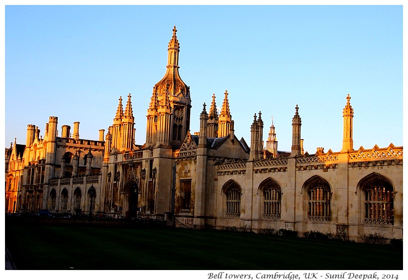 Bell towers, Cambridge, UK - Images by Sunil Deepak