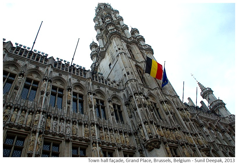 Statues, Brussels town hall, Belgium - Images by Sunil Deepak, 2013