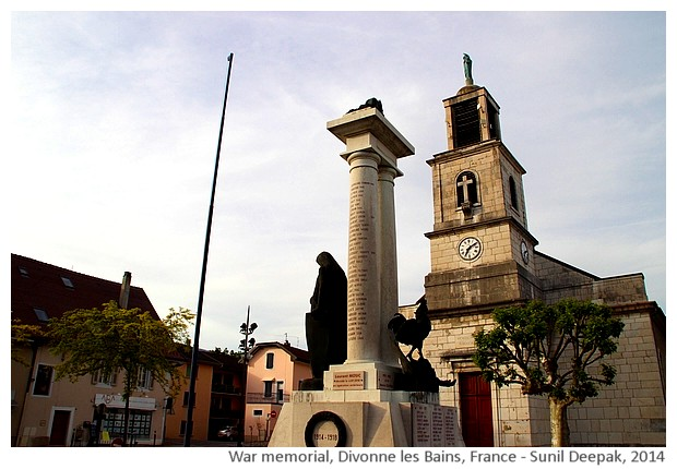 War memorial, Divonne les Bains, France - images by Sunil Deepak, 2014