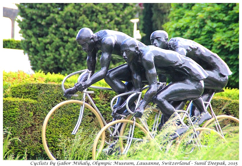 Bicycle race by Gabor Mihaly, Olympic museum, Lausanne, Switzerland - Images by Sunil Deepak