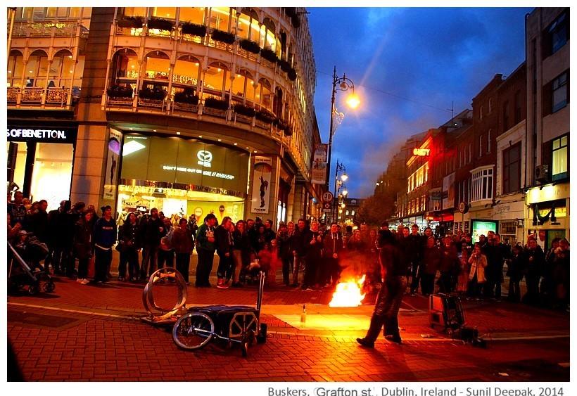 Buskers, Grafton street, Dublin, Ireland - Images by Sunil Deepak, 2014