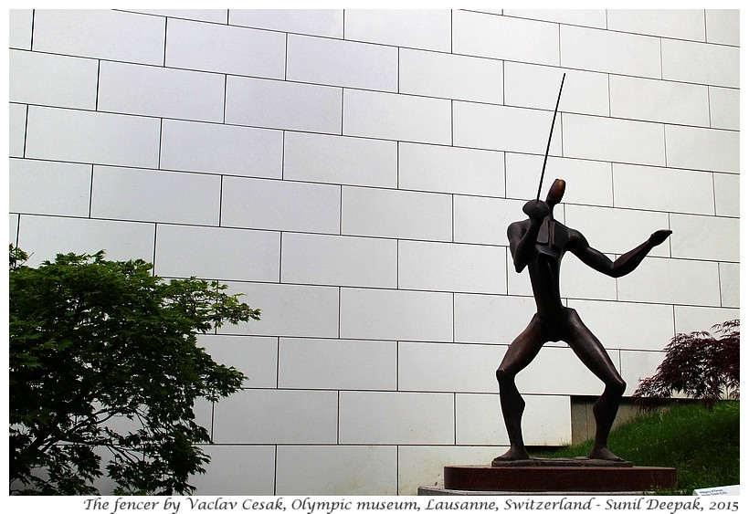 Fencer by Vaclav Cesak, Olympic museum, Lausanne, Switzerland - Images by Sunil Deepak