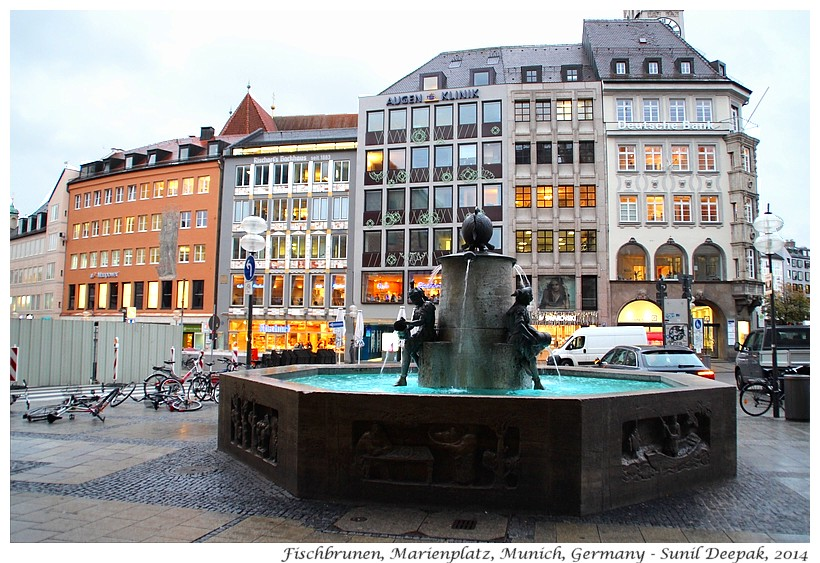 Fischbrunen, Marienplatz, Munich, Germany - Images by Sunil Deepak