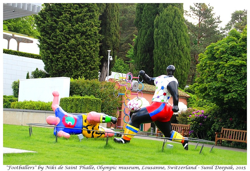 Footballers by Niki Saint Phalle, Olympic museum, Lousanne, Switzerland - Images by Sunil Deepak