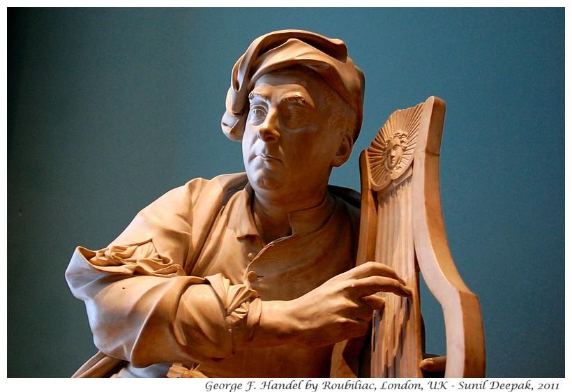Handel statue, V&A museum, London, UK - Images by Sunil Deepak
