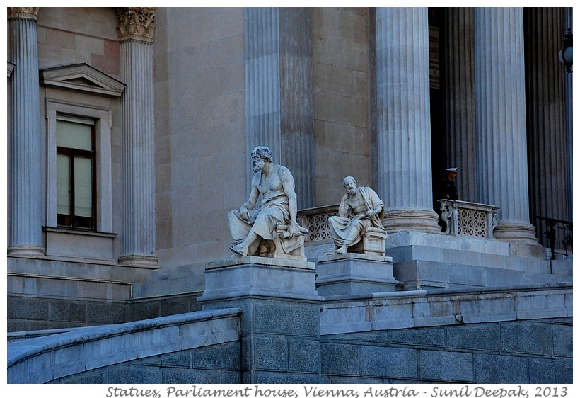 Statues, Parliament, Vienna, Austria - Images by Sunil Deepak, 2013