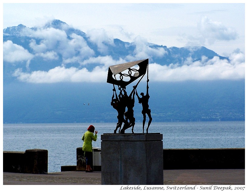 Lakeside, Lausanne, Switzerland - Images by Sunil Deepak