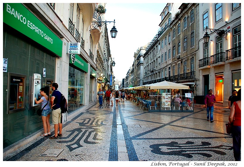 Mosaic pavements, Lisbon city centre, Portugal - Images by Sunil Deepak