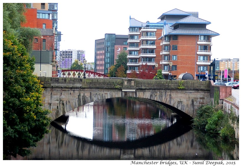 Bridges on Irwell river, Manchester, UK - Images by Sunil Deepak