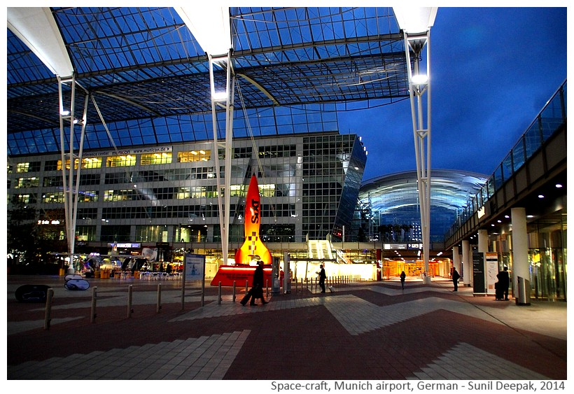 Space-craft outside Munich airport, Germany - Images by Sunil Deepak, 2014
