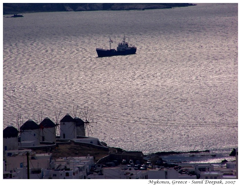 Mykonos sea, Greece - Images by Sunil Deepak