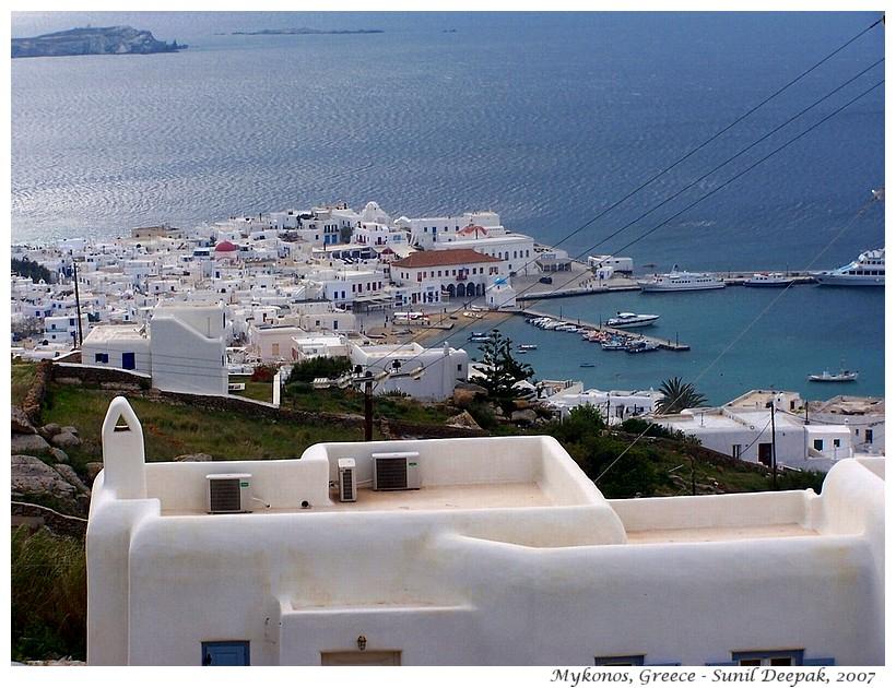 Mykonos sea, Greece - Images by Sunil Deepak