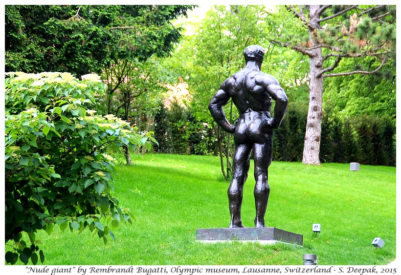 Nude giant by Rembrandt Bugatti, Olympic museum, Lausanne, Switzerland - Images by Sunil Deepak