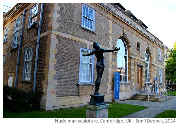 Nude man with open arms, Cambridge UK - Images by Sunil Deepak, 2014