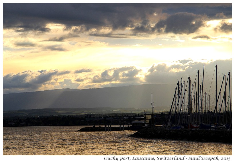 Clouds, Ouchy port, Lausanne, Switzerland - Images by Sunil Deepak