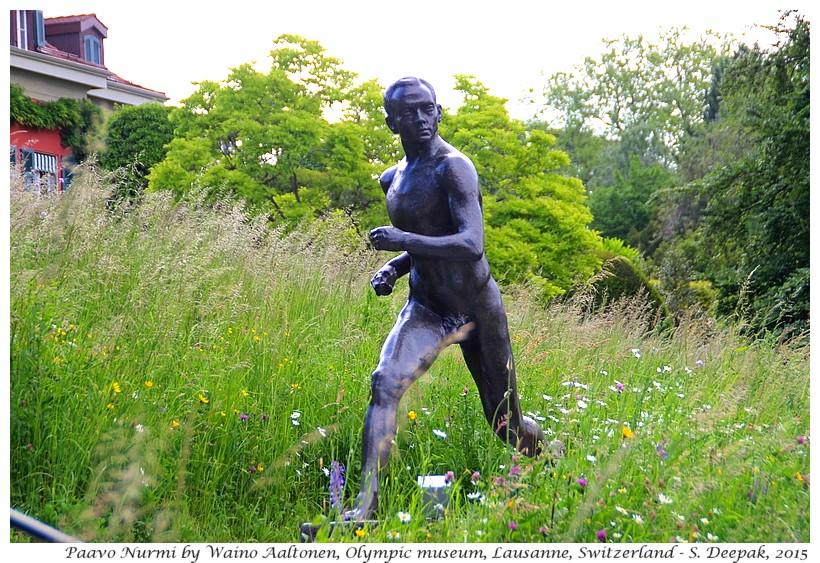 Paavo Nurmi statue by Waino Aaaltonen, Olympic museum, Lausanne, Switzerland - Images by Sunil Deepak
