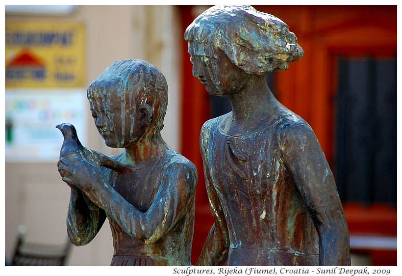 Public sculptures, Rijeka, Croatia - Images by Sunil Deepak