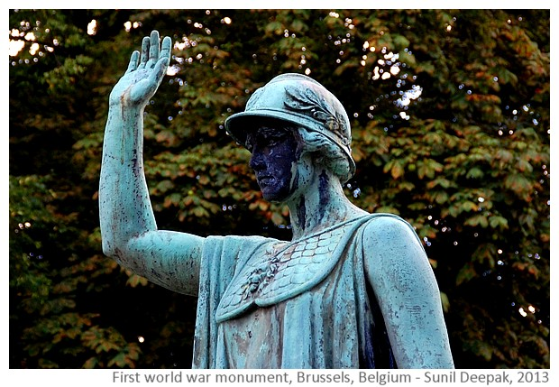 First world war monument, Brussels, Belgium - images by Sunil Deepak, 2013