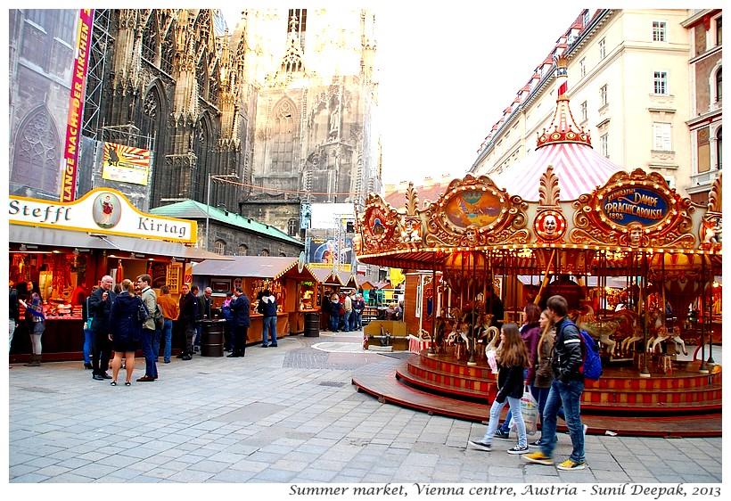 Market, Vienna centre, Austria - Images by Sunil Deepak