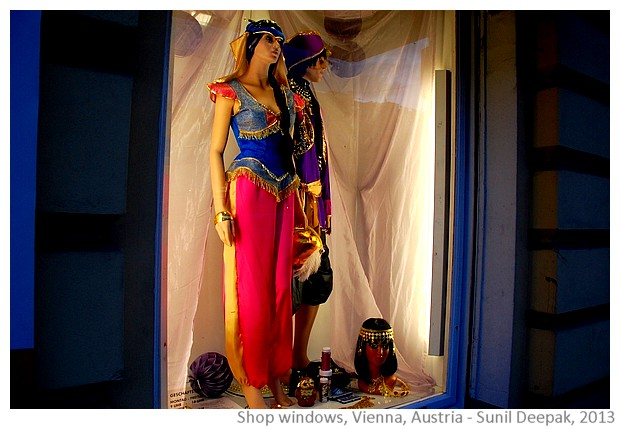 Vienna shop windows, Austria - images by Sunil Deepak, 2013