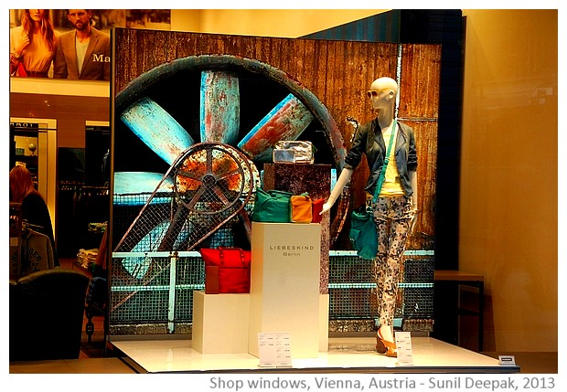 Vienna shop windows, Austria - images by Sunil Deepak, 2013