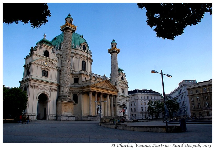 St Charles church, Vienna, Austria - Images by Sunil Deepak