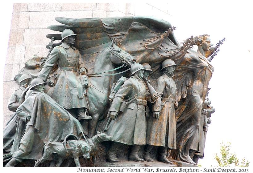 Animals in second world war memorial, Brussels, Belgium - Images by Sunil Deepak