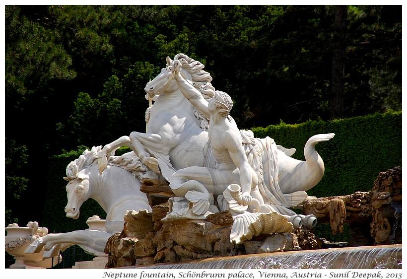Water horses, Schonbrunn, Vienna, Austria - Images by Sunil Deepak