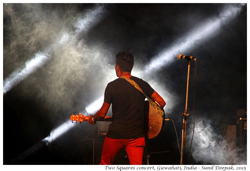 Music concert of 2 Squares, Guwahati, Assam, India - Images by Sunil Deepak