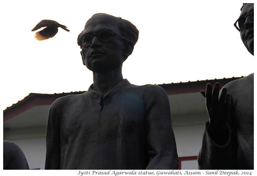 Agarwala, Rabha and Sarma statues, Guwahati, Assam, India - Images by Sunil Deepak, 2014