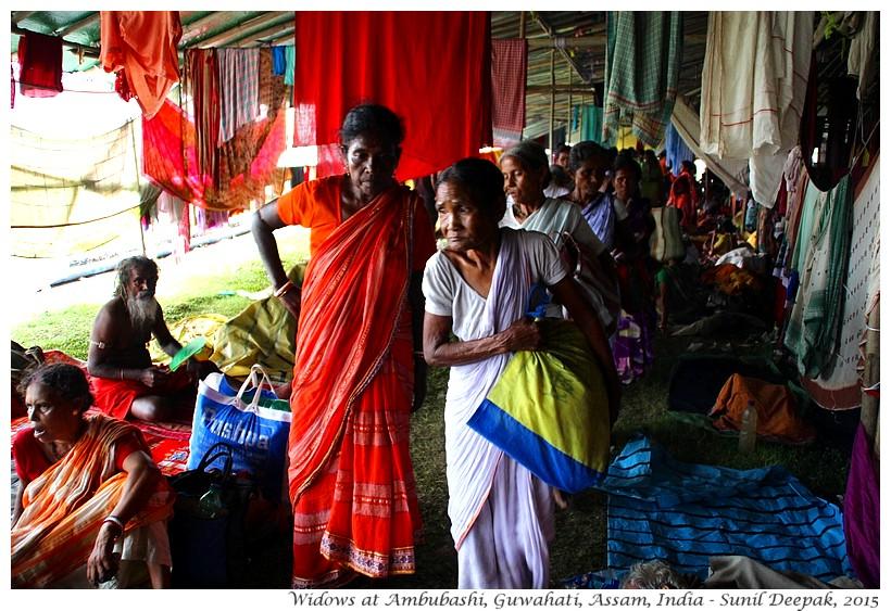 Widows at Ambubashi, Guwahati, Assam, India - Images by Sunil Deepak