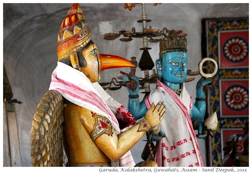 Temple Garuda statues, Assam, India - Images by Sunil Deepak