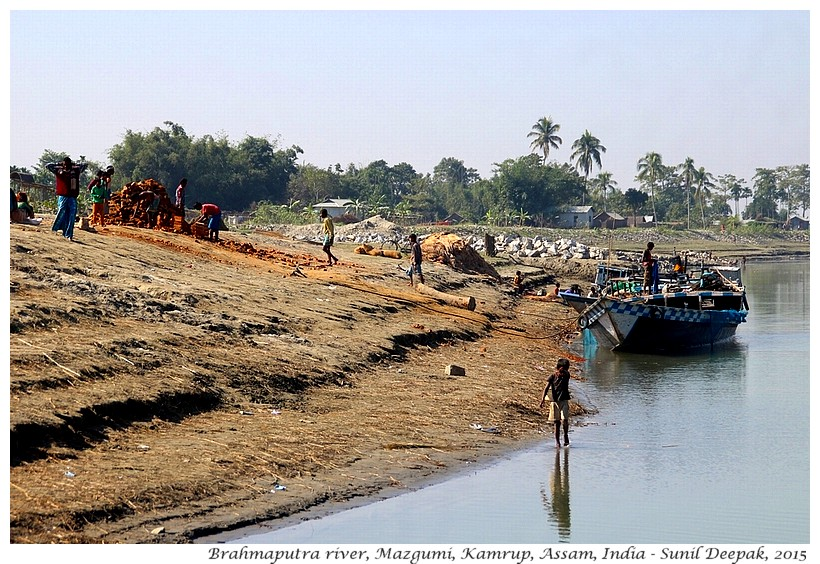 Brhmaputra river bank, Mazgumi, Kamrup, Assam, India - Images by Sunil Deepak