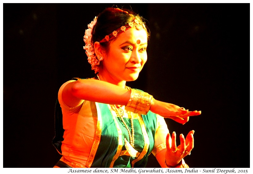 Assamese dance, Shrutimala Medhi, Guwahati, Assam, India - Images by Sunil Deepak