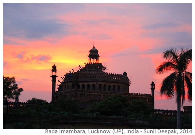 Evening at Bada Imambara, Lucknow, India - images by Sunil Deepak, 2014