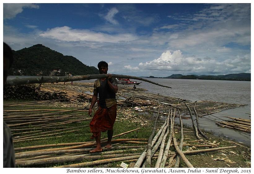 Bamboo shops, Muchokhowa, Guwahati, Assam, India - Images by Sunil Deepak