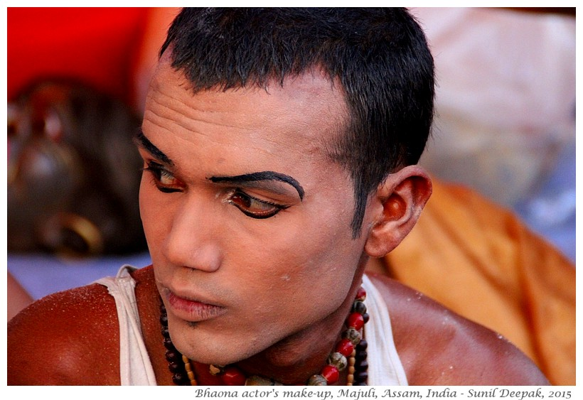 Makeup of Actor of Bhaona folk theatre, Majuli, Assam, India - Images by Sunil Deepak