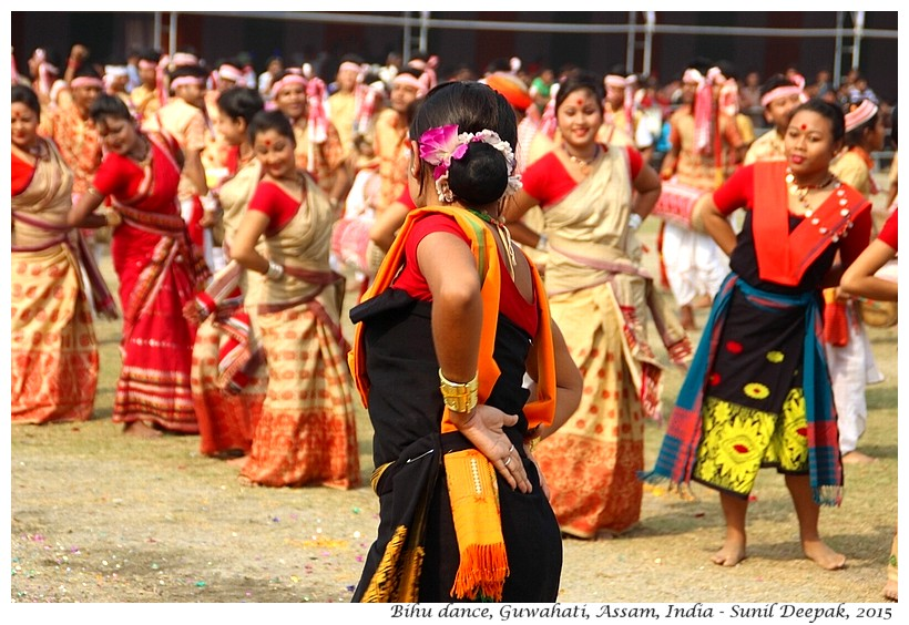 Bihu dance, Assam, India - Images by Sunil Deepak