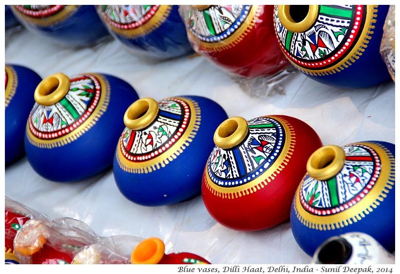Blue vases, Delhi, India - Images by Sunil Deepak