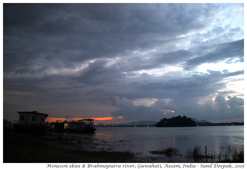 Monsoon skies & Brahmaputra river, Guwahati, Assam, India - Images by Sunil Deepak