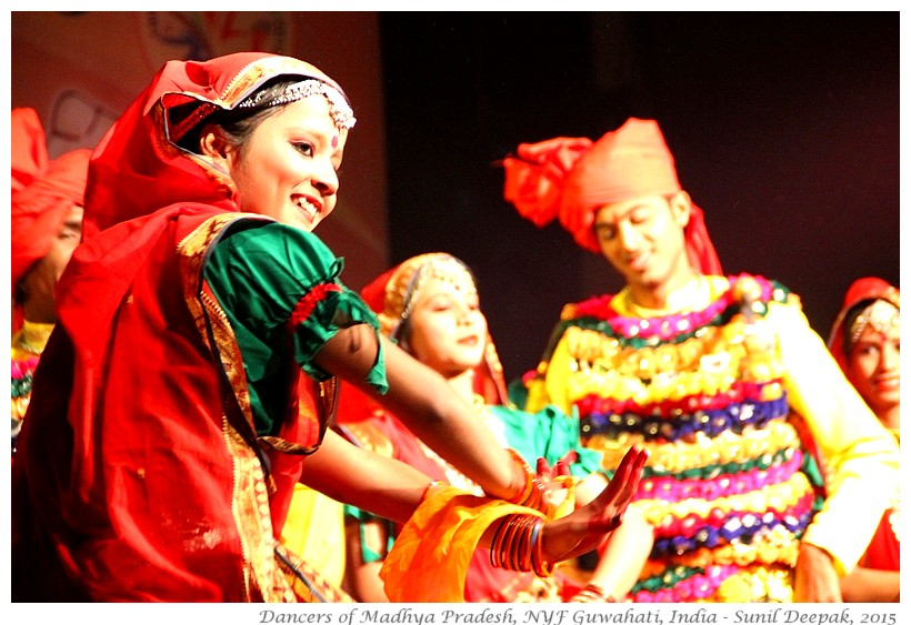 Bundelkhand folk dance, Guwahati, India - Images by Sunil Deepak