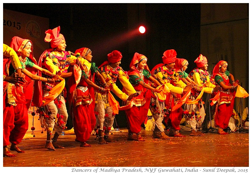 Bundelkhand folk dance, Guwahati, India - Images by Sunil Deepak