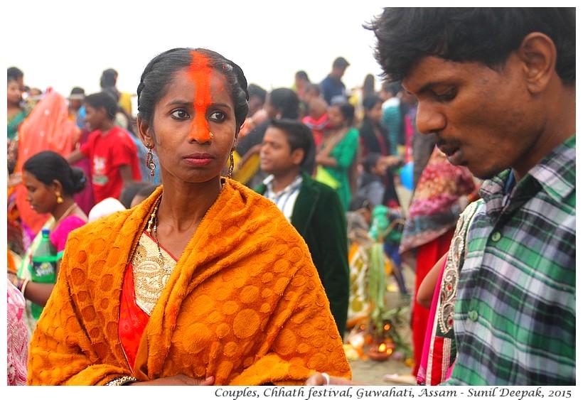 Couples at Chhath festival, Guwahati, Assam, India - Images by Sunil Deepak