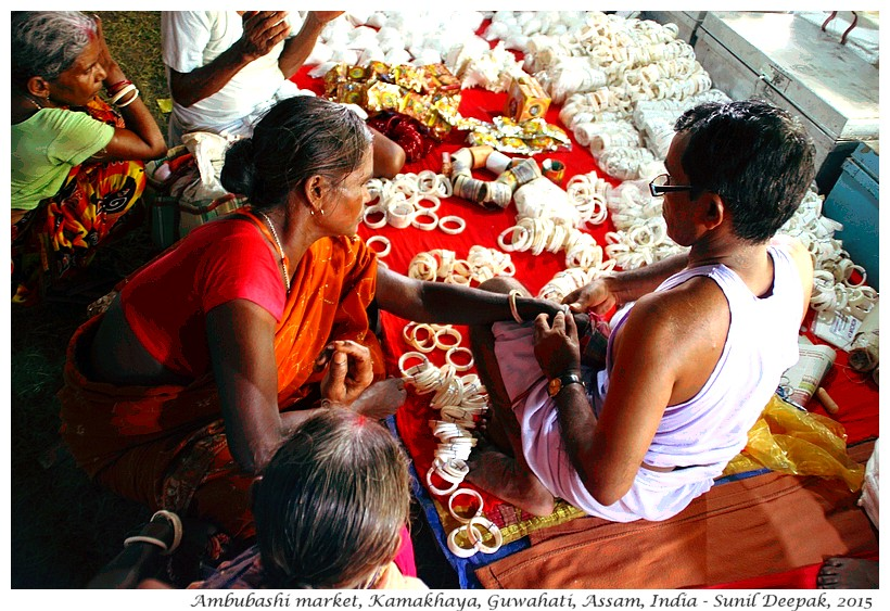 Seashell market, Ambubashi, Guwahati, Assam, India - Images by Sunil Deepak
