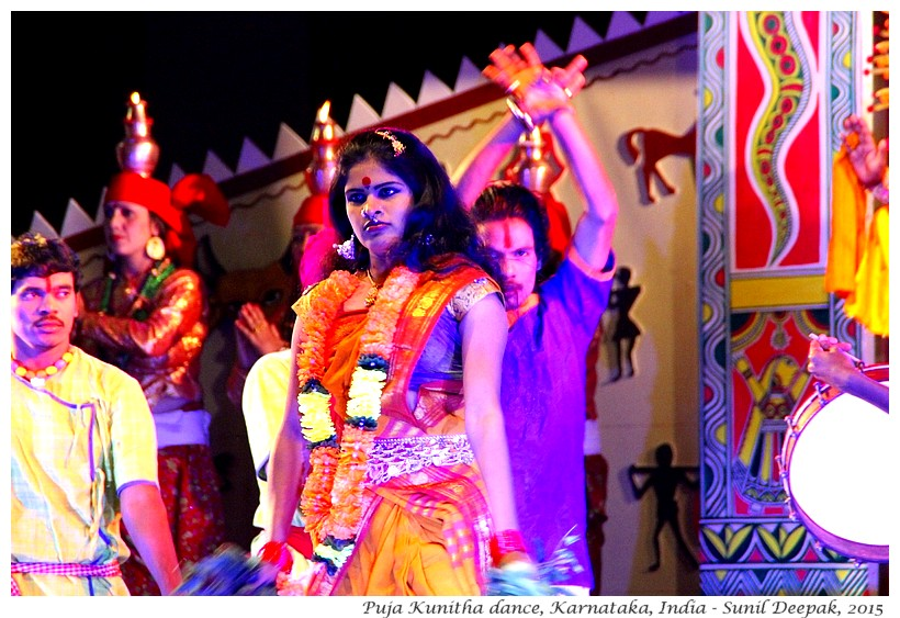 Dancing goddess, Puja Kunitha dance, Karnataka, India - Images by Sunil Deepak