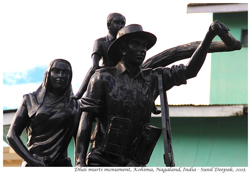 Burma refugee monument, Kohima, Nagaland, India - Images by Sunil Deepak