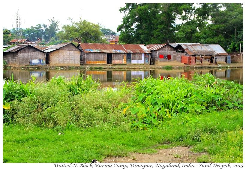 Ponds & huts of emigrants, Burma camp, Dimapur, Nagaland, India - Images by Sunil Deepak