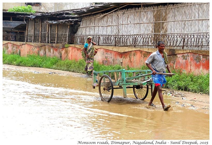 Pot-holed roads, Dimapur, Nagaland, India - Images by Sunil Deepak
