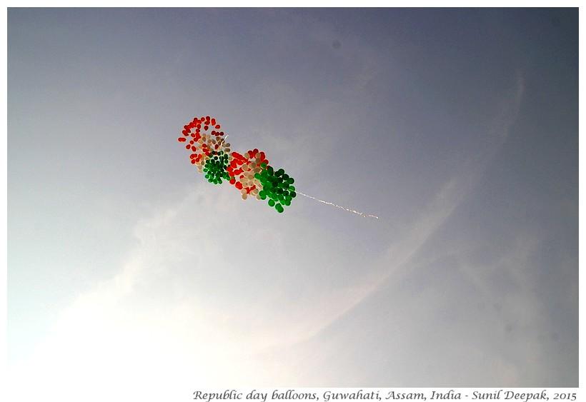 Balloons of Indian flag, Guwahati, Assam, India - Sunil Deepak, 2015